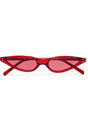 George Keburia Cat-eye acetate sunglasses
