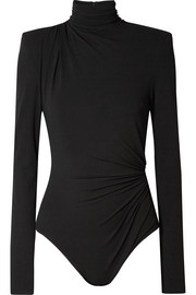 Alexandre Vauthier Ruched stretch-jersey turtleneck bodysuit