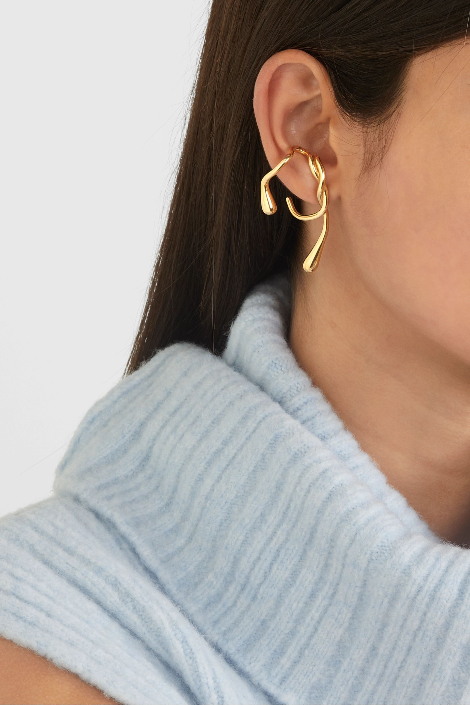 Anne Manns Eila gold-plated earring
