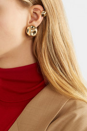 Anne Manns Edeitraud gold-plated earring