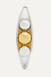 Anne Manns Eadie silver and gold-plated clip-on earring