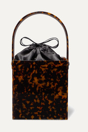 Montunas Stelis tortoiseshell acetate and silk-satin tote