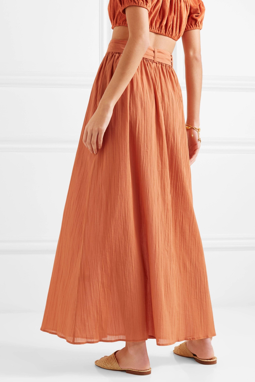 Lisa Marie Fernandez Belted cotton-gauze maxi skirt