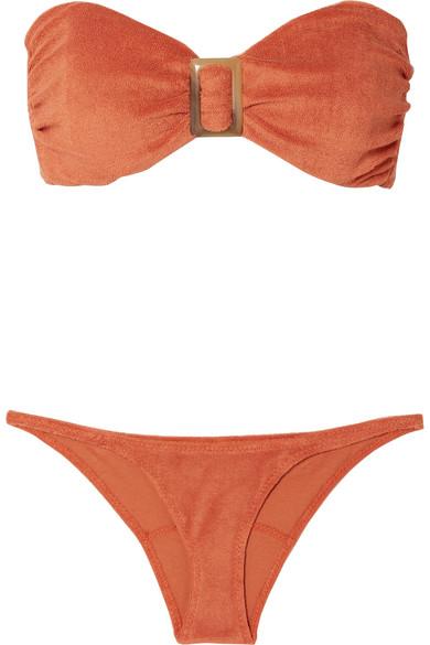 Bikini En Molleton De Coton Mélangé À Ornements - Orange