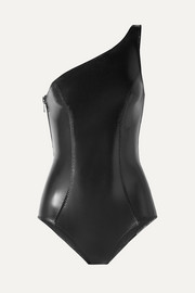 Lisa Marie Fernandez Arden one-shoulder stretch-PVC swimsuit