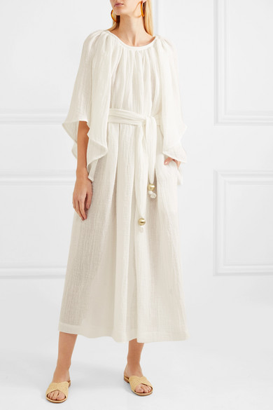 f8e02f6fa5 Lisa Marie Fernandez. Linen-blend gauze maxi dress