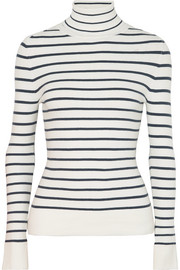 JoosTricot Striped stretch cotton-blend turtleneck sweater