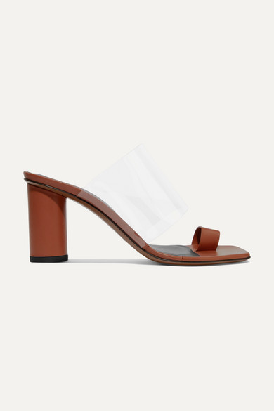 NEOUS Chost Leather And Pvc Sandals in Tan