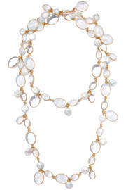 Loulou de la Falaise Gold-plated pearl and bead necklace