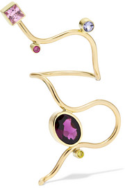 Sleeping Beauty 14-karat gold multi-stone ring