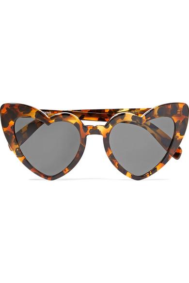 9784241d32 Saint Laurent. Loulou heart-shaped leopard-print tortoiseshell acetate  sunglasses