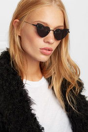 New Wave Loulou heart-shaped metal sunglasses