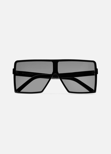 Betty D-Frame Acetate Sunglasses in Black