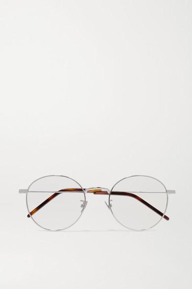 5176c576df Saint Laurent. Round-frame silver-tone optical glasses
