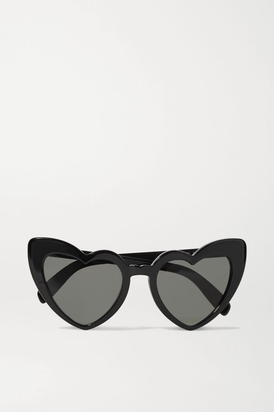SAINT LAURENT Loulou Sonnenbrille mit herzförmigem Rahmen aus Azetat