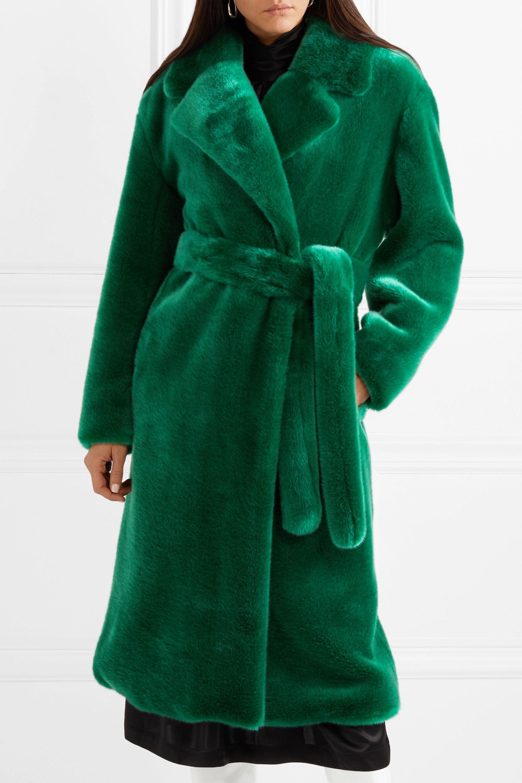 Tibi Luxe oversized faux fur coat