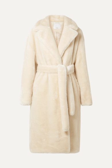 Luxe Oversized Mantel Aus Faux Fur by Tibi