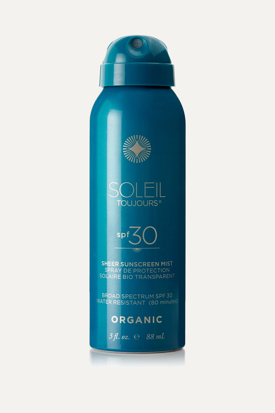 Soleil Toujours + NET SUSTAIN SPF30 Organic Sheer Sunscreen Mist, 88ml