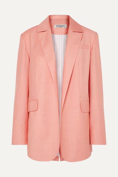 MATÉRIEL | MATÉRIEL - Wool-blend Blazer - Blush | Goxip
