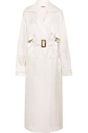 MATÉRIEL Belted silk-satin trench coat