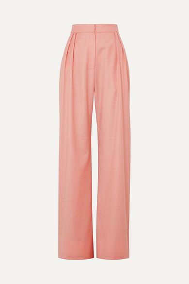 MATÉRIEL   MATÉRIEL - Wool-blend Wide-leg Pants - Blush   Goxip