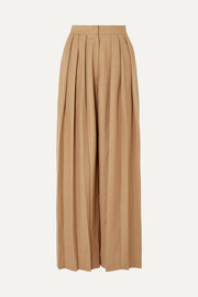 MATÉRIEL Triple Pleat wool-blend wide-leg pants