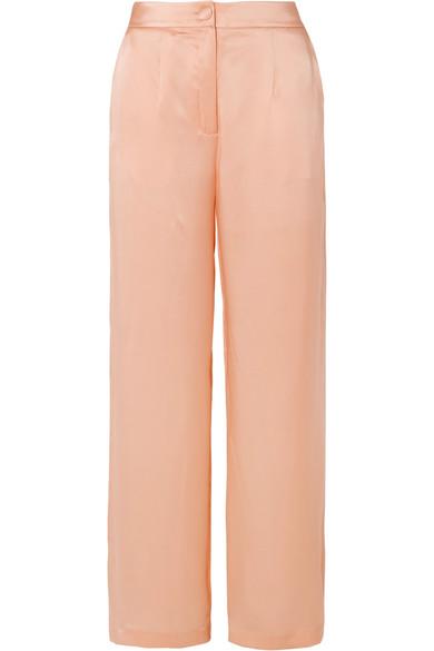 MATÉRIEL   MATÉRIEL - Silk-satin Pants - Peach   Goxip