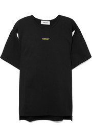 AMBUSH® Cutout printed cotton-jersey T-shirt