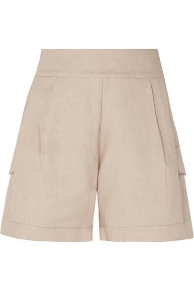MATIN   MATIN - Linen Shorts - Beige   Goxip