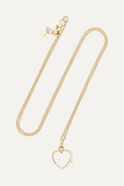 14-karat gold glass necklace