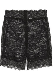 Stretch-lace shorts