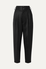 Peter Do Pleated wool-gabardine straight-leg pants