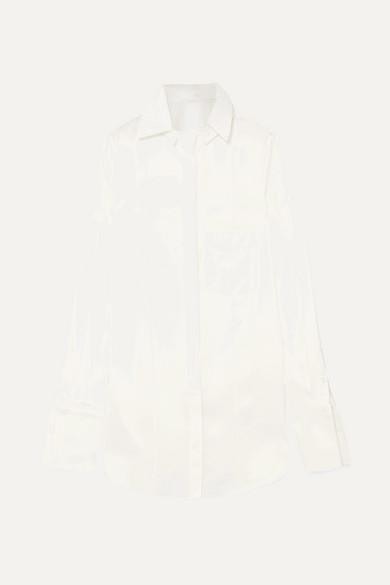 PETER DO | Peter Do - Convertible Tencel-blend Shirt - White | Goxip
