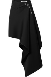 Peter Do Asymmetric satin-crepe skirt
