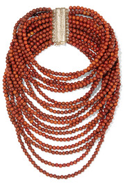 Arizona gold-tone beaded necklace