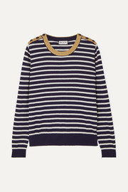 Paul & Joe Le Bosc metallic striped cotton-blend sweater