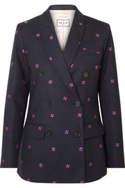 Paul & Joe Constantin embroidered checked wool-blend blazer