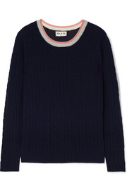 Paul & Joe La Belette striped cable-knit cashmere sweater