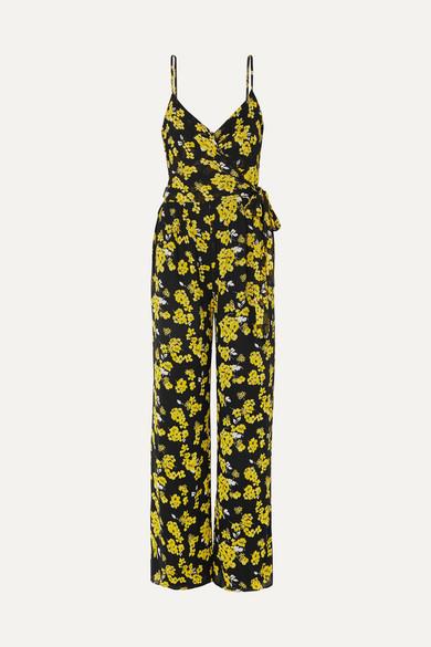42b1c735ff99f MICHAEL Michael Kors | Glam Fleur floral-print georgette wrap jumpsuit |  NET-A-PORTER.COM