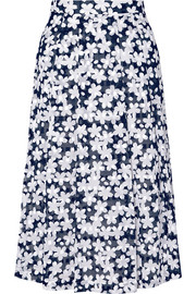 Paul & Joe Audrey floral-print cotton-poplin midi skirt