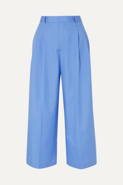 Paul & Joe Noisy cropped cotton wide-leg pants