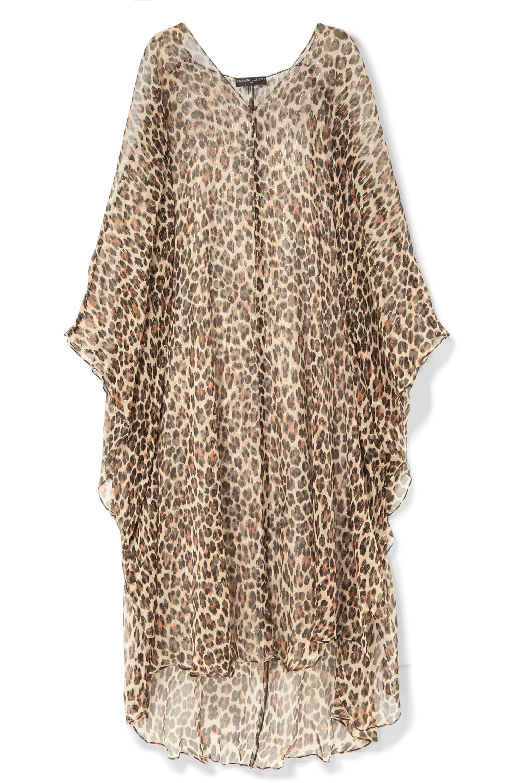 Caroline Constas Avari leopard-print silk and Lurex-blend chiffon kaftan
