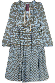Printed cotton-voile dress