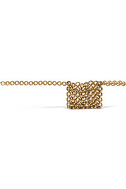 Gold-tone belt bag