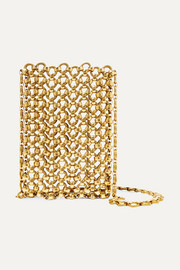 Laura Lombardi Clutch aus goldfarbenem Messing