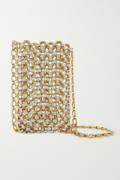 LAURA LOMBARDI Gold And Silver-Tone Clutch