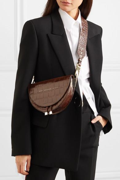 6f42bb82f Chylak   Tasseled croc-effect glossed-leather shoulder bag   NET-A ...
