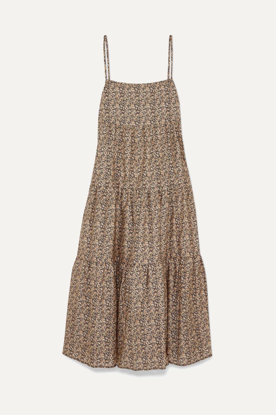 0a5eb8e86cf Matteau Floral-print tiered cotton-poplin maxi dress