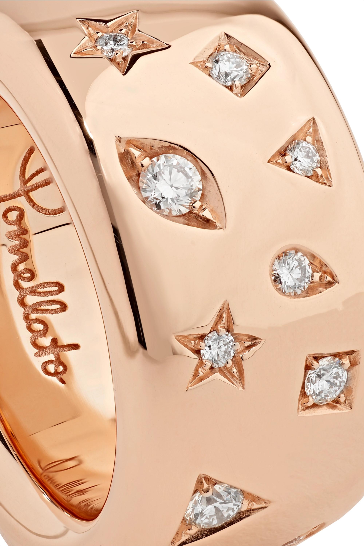 Pomellato Ring aus 18 Karat Roségold mit Diamanten
