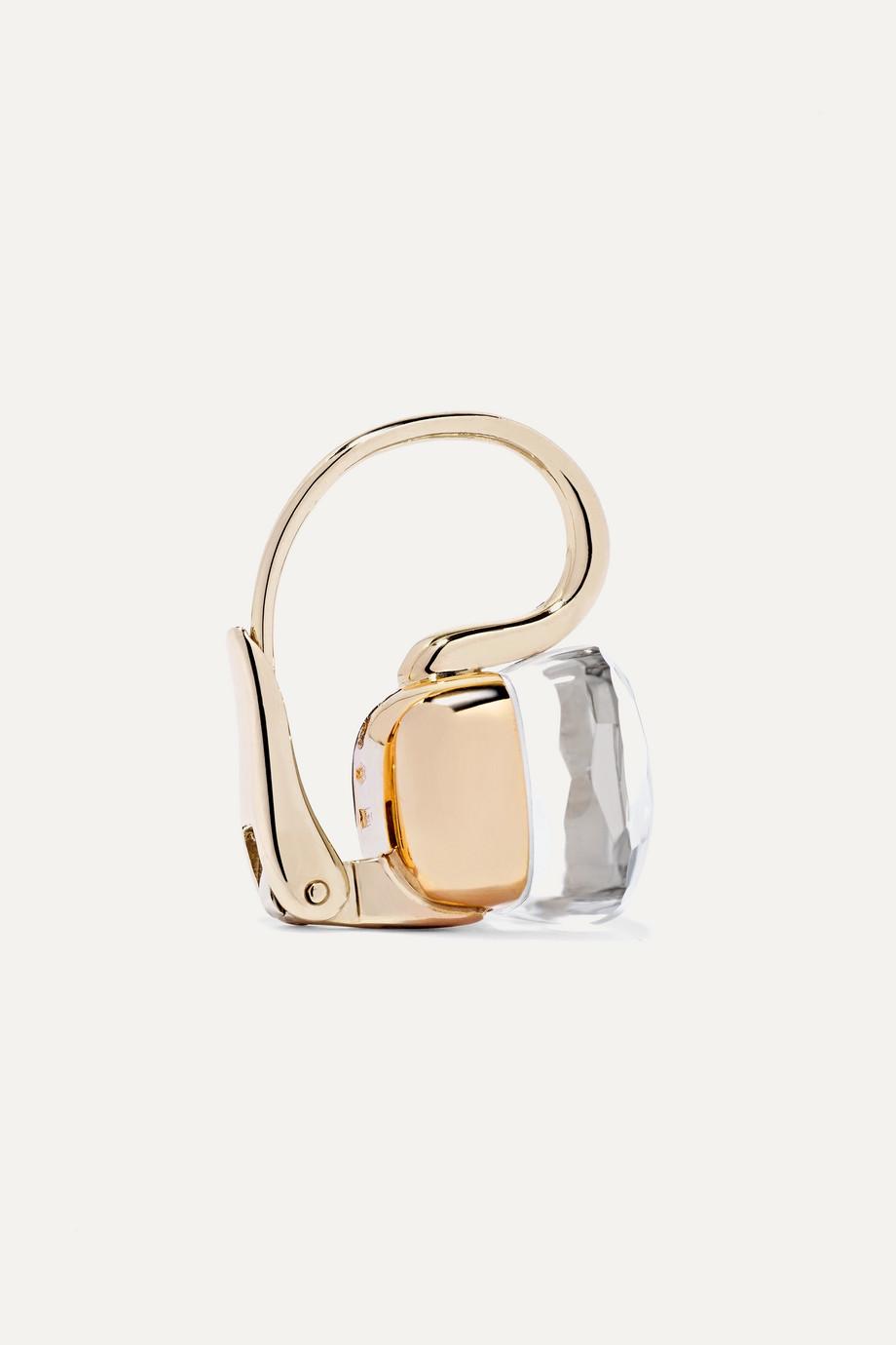 Pomellato Nudo Classic 18-karat rose and white gold topaz earrings